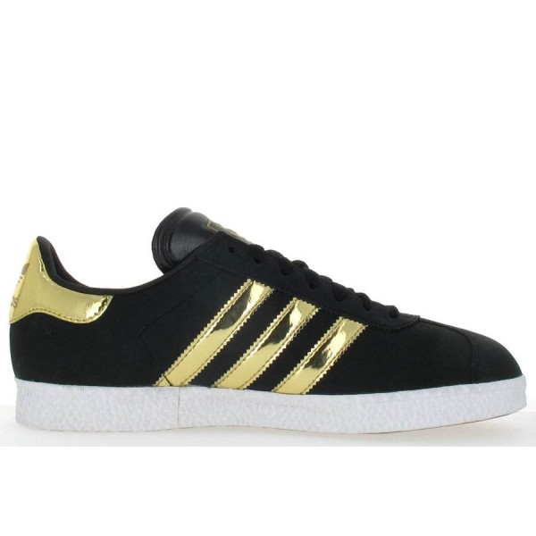 adidas gazelle femme noir et or