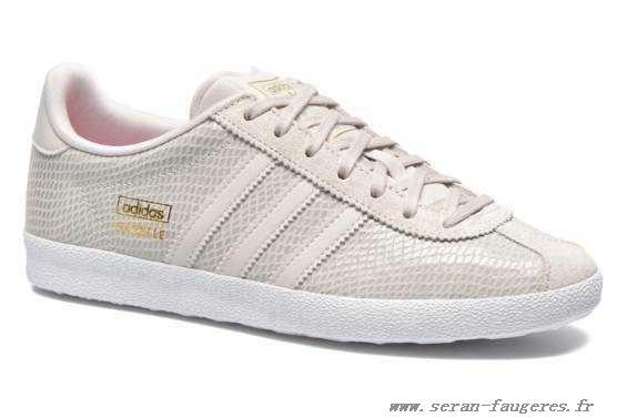 adidas original gazelle femme beige
