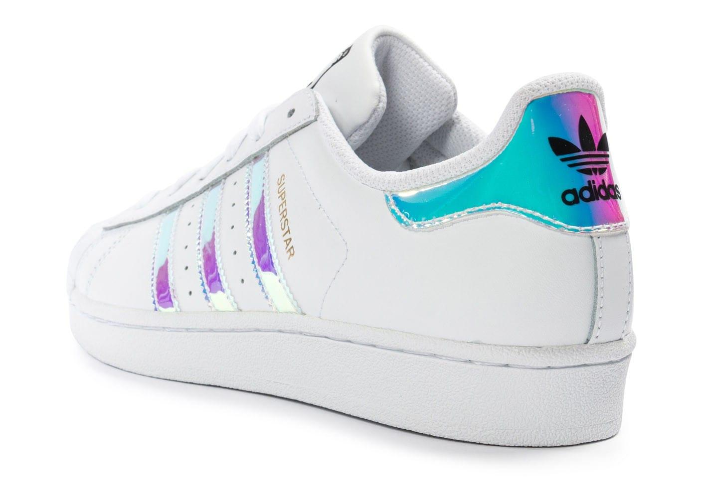 adidas superstar holographique femme