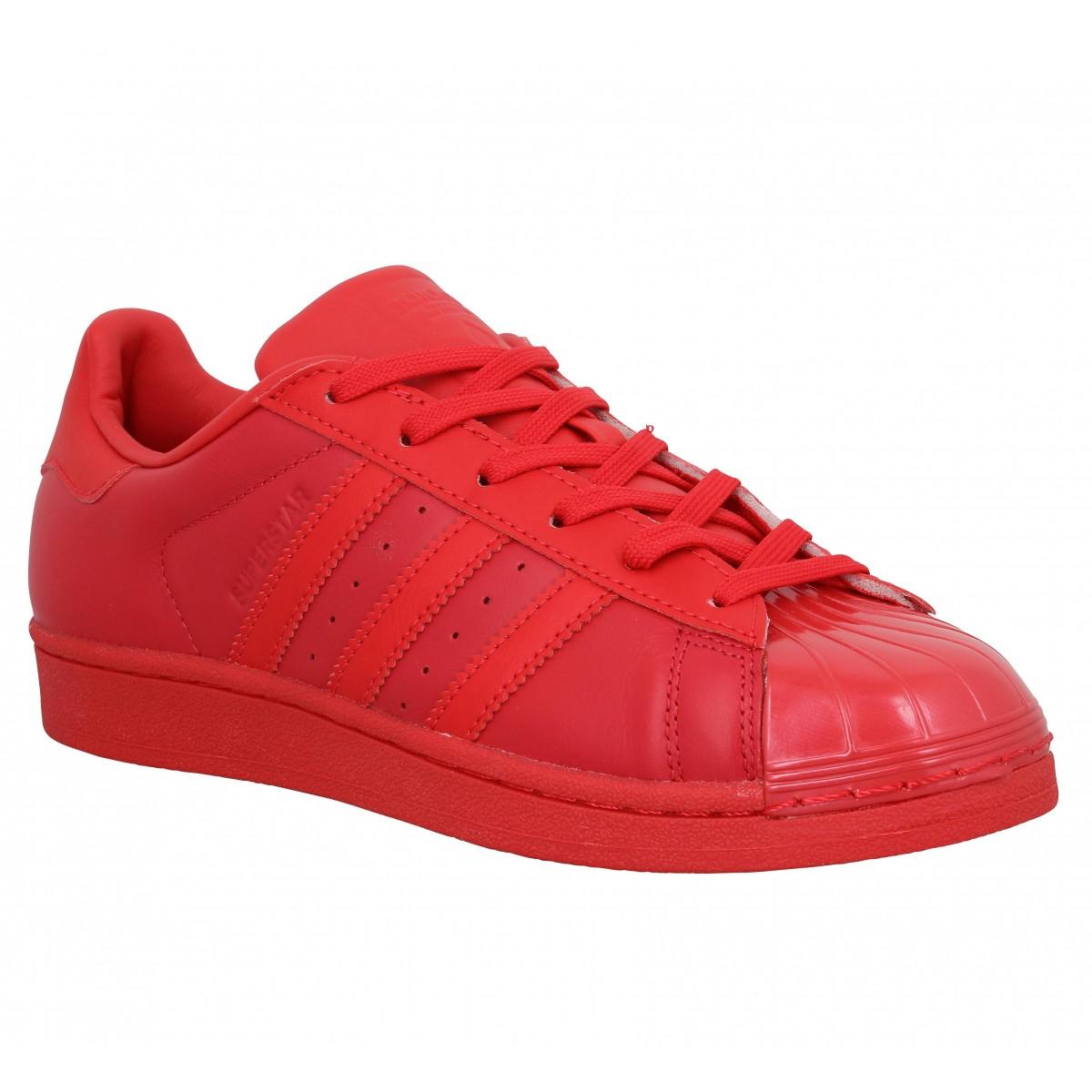 adidas superstar tout rouge