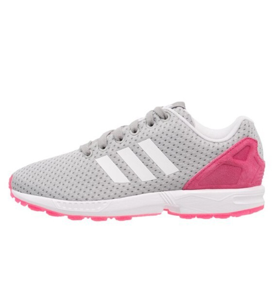 adidas zx flux rose blanche