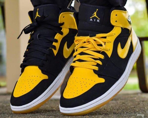 air jordan 1 low jaune et noir