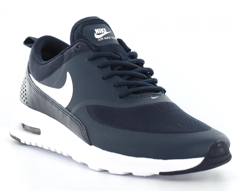 Chaussures Femme Nike Air Max Thea Jacquard Bleu Foncé Bleu